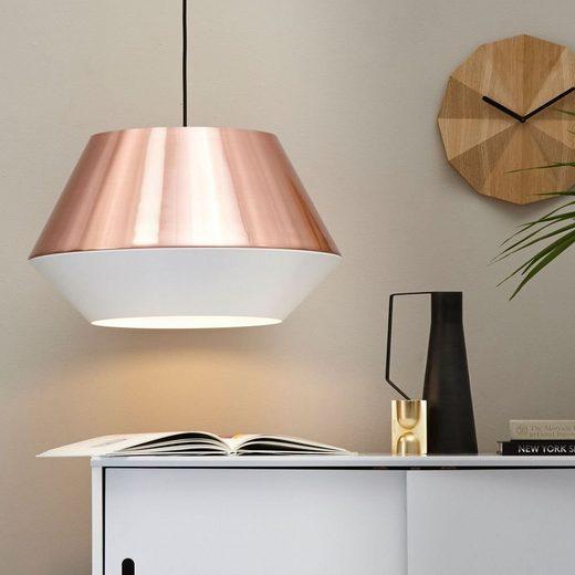 s.LUCE Pendelleuchte »LED SkaDa Ø 50cm in Kupfer, Weiß«
