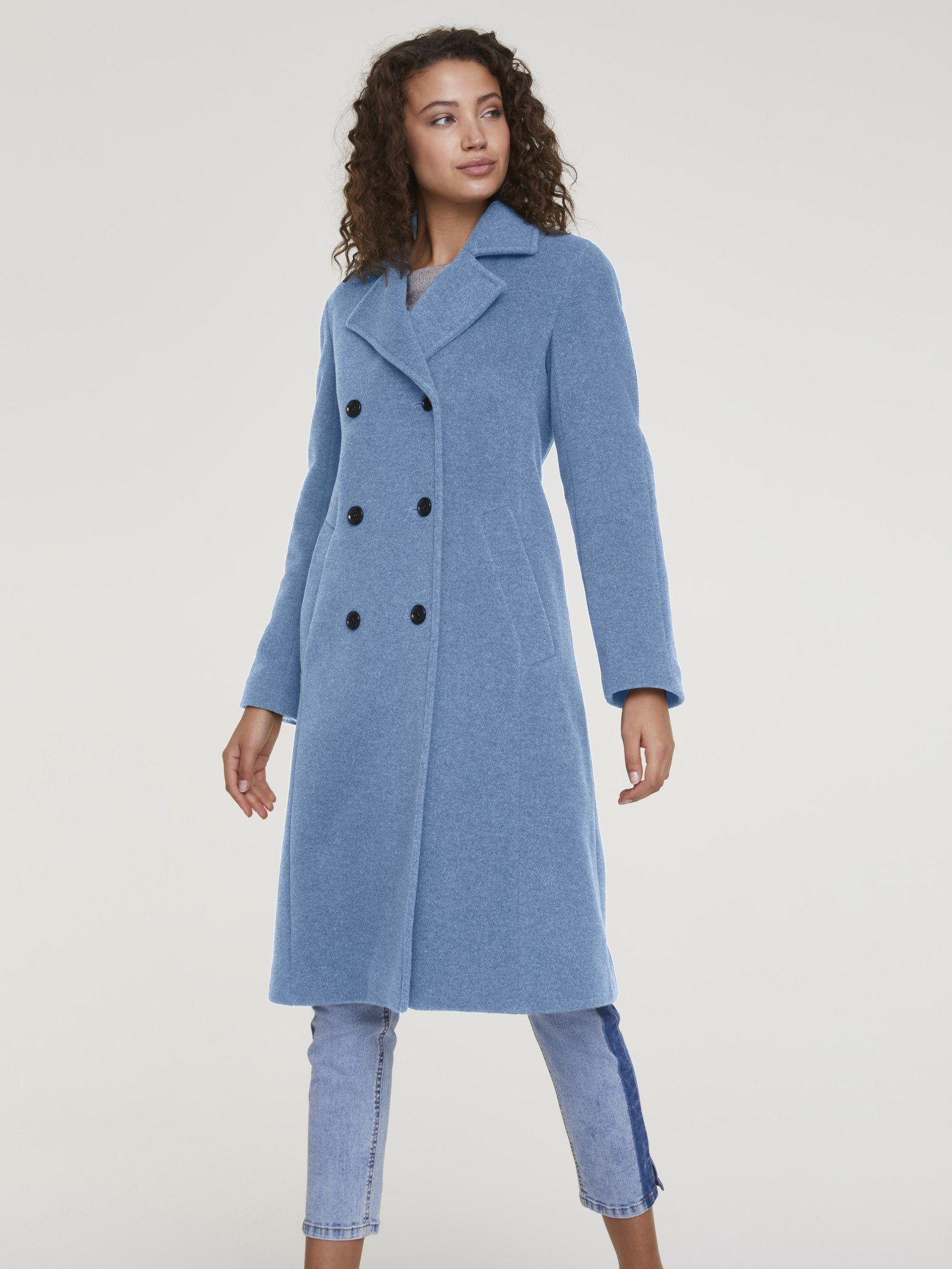 Gr.42,44 80/% Polyester Jacke neu 20/% Wolle Kurzjacke Heine