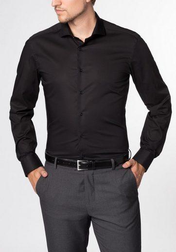 Fit« Schwarz »slim Eterna Langarm Hemd SUzMVp