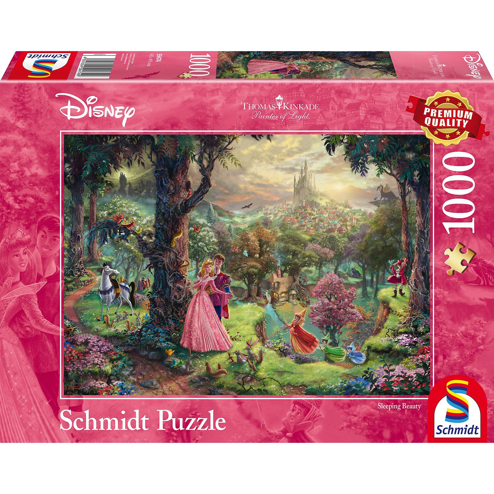 Schmidt Spiele Puzzle 1000 Teile Thomas Kinkade Disney Dornröschen