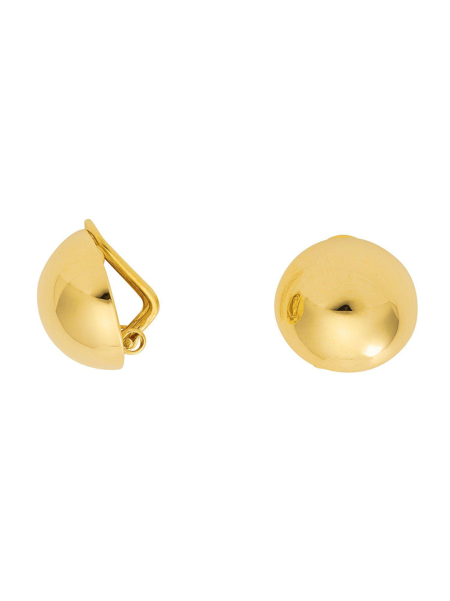 Adelia´s Paar Ohrclips »Gold Ohrringe«, 8 k 333 Gelbgold Ø 14 mm