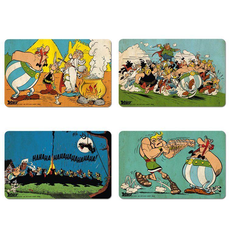 LOGOSHIRT Frühstücksbrettchen 4er-Set mit Asterix-Motiven