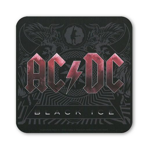 LOGOSHIRT Untersetzer im AC/DC - Black Ice-Design
