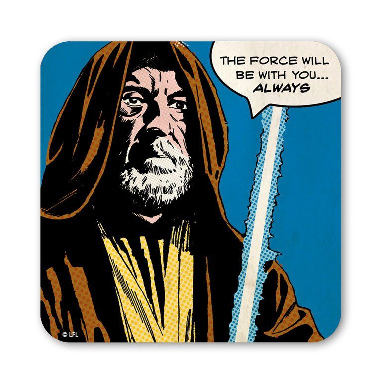 LOGOSHIRT Untersetzer mit Obi Wan-Motiv