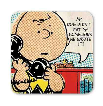 LOGOSHIRT Untersetzer mit Charlie Brown-Motiv