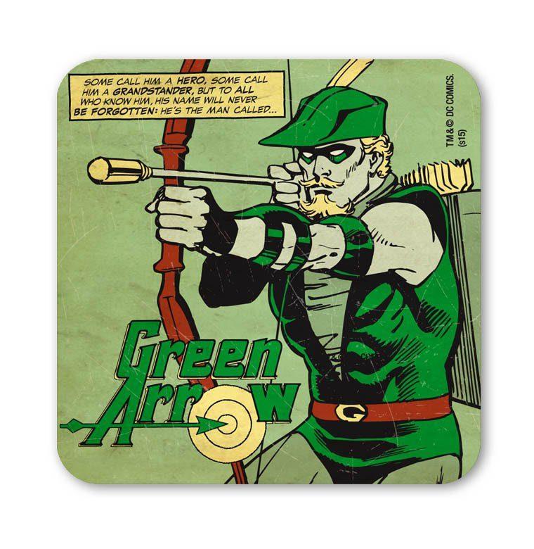 LOGOSHIRT Untersetzer mit Green Arrow-Motiv