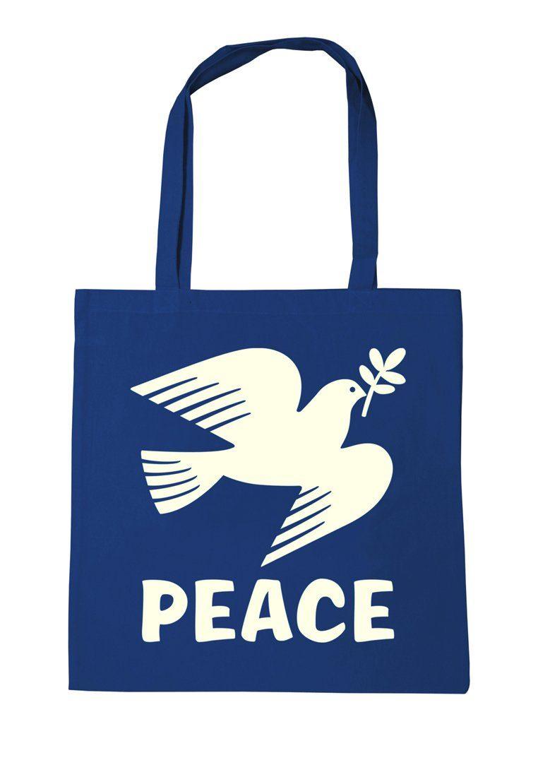 LOGOSHIRT Baumwolltasche mit Peace-Motiv