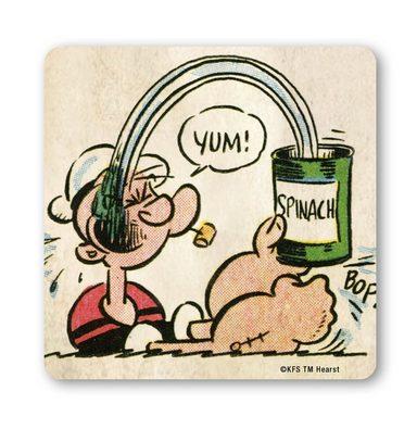 LOGOSHIRT Untersetzer mit Popeye-Motiv