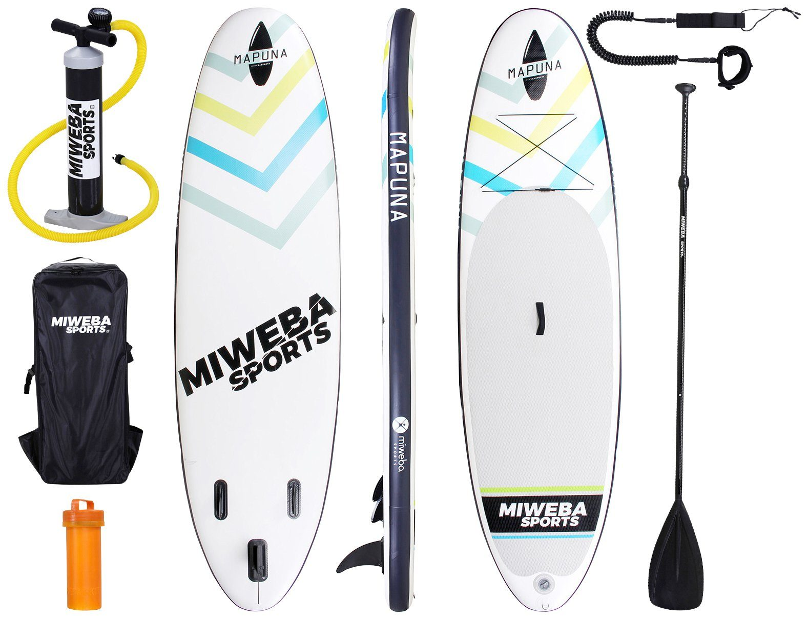 MIWEBA Set: SUP-Board »Mapuna«, White-Fresh, BxL: 75x305 cm