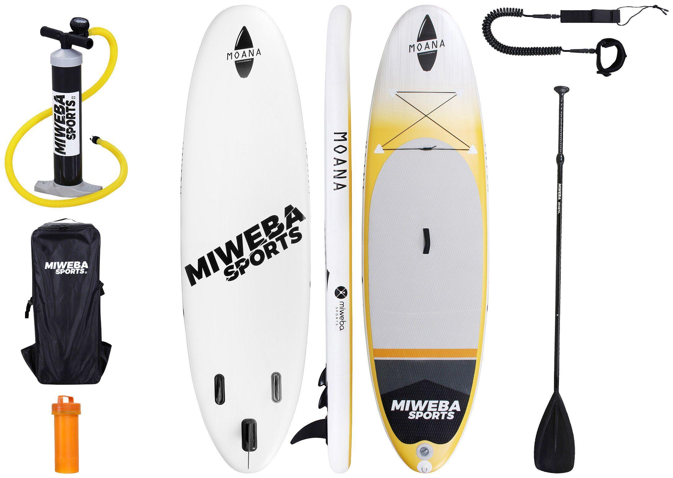 MIWEBA Set: SUP-Board »Moana«, Sunrise-Orange, BxL: 85x325 cm