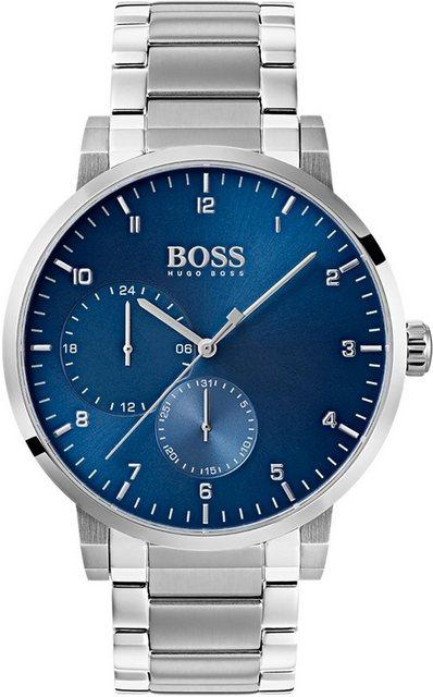Herren Boss Multifunktionsuhr OXYGEN 1513597 silber   07613272271325