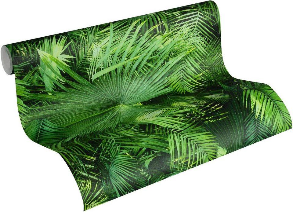 Vliestapete, Living Walls, »Tapete Neue Bude 2.0«, Mit Palmenprint  Dschungel Style