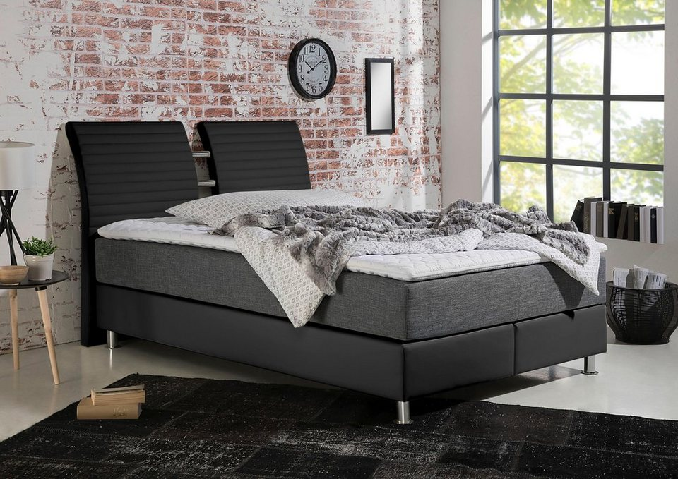 maintal boxspringbett inklusive topper kaufen otto. Black Bedroom Furniture Sets. Home Design Ideas