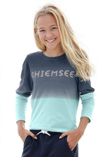 Chiemsee Langarmshirt mit modischem Farbverlauf