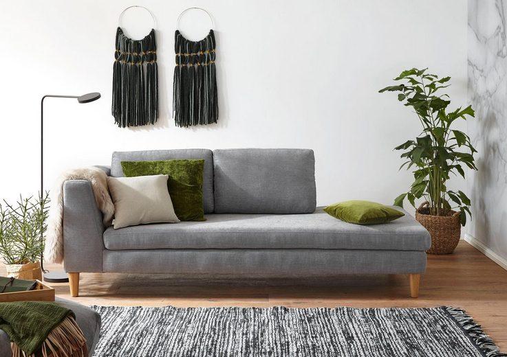 Ewald Schillig Einzelliege »DO-MI-NO« im skandinavischen Design, mit losen Rückenkissen