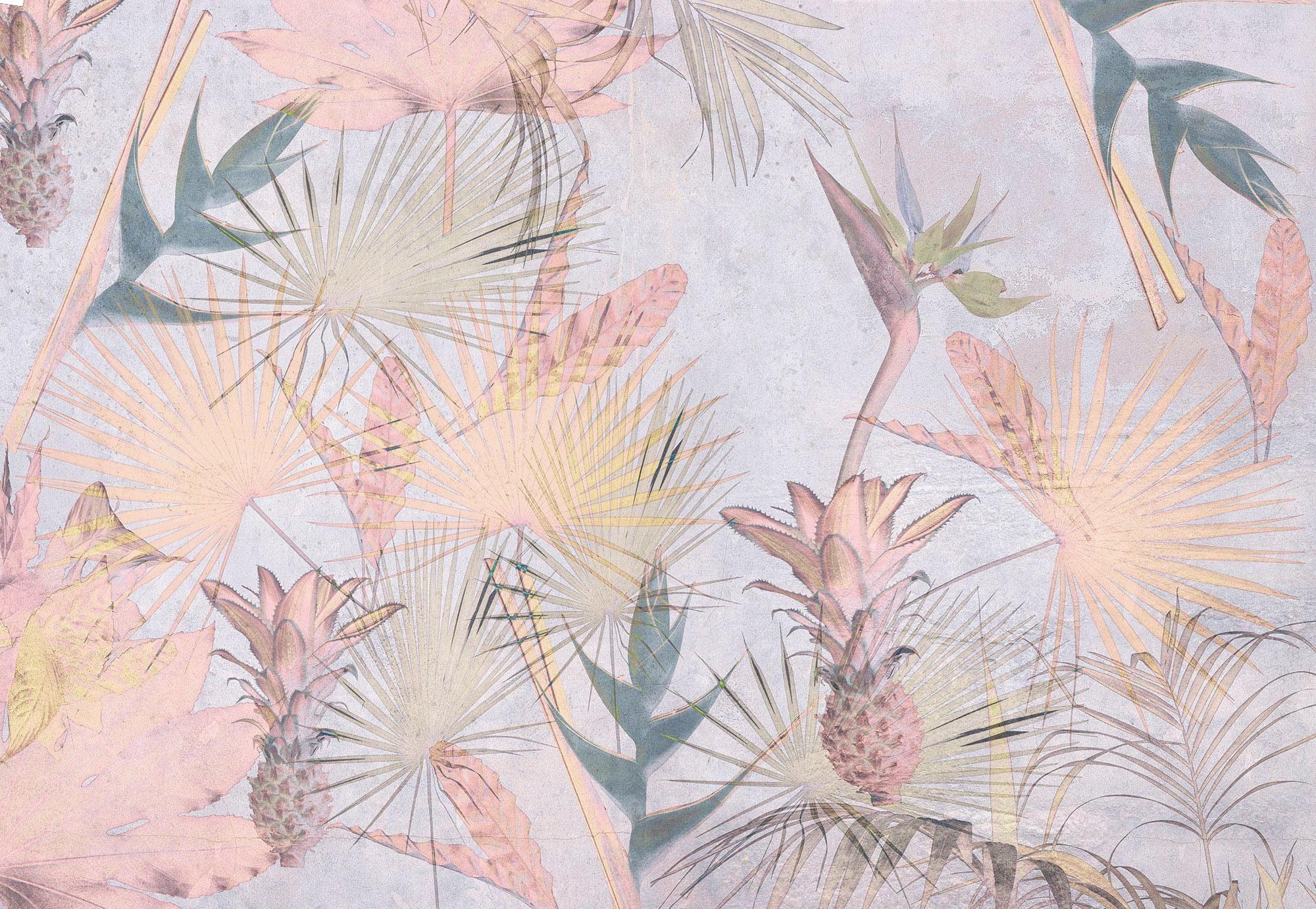 Komar Fototapete »Tropical Concrete« aus Papier (8er-Set)