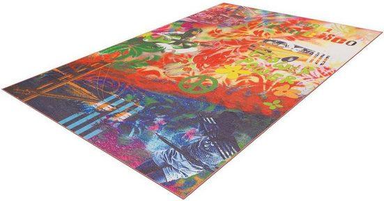 Teppich »Flash 2702«, Arte Espina, rechteckig, Höhe 9 mm, feiner Chenille Teppich, kunstvolles Design