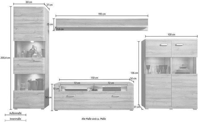 Wohnwände - set one by Musterring Wohnwand »madison«, (Set, 4 St)  - Onlineshop OTTO