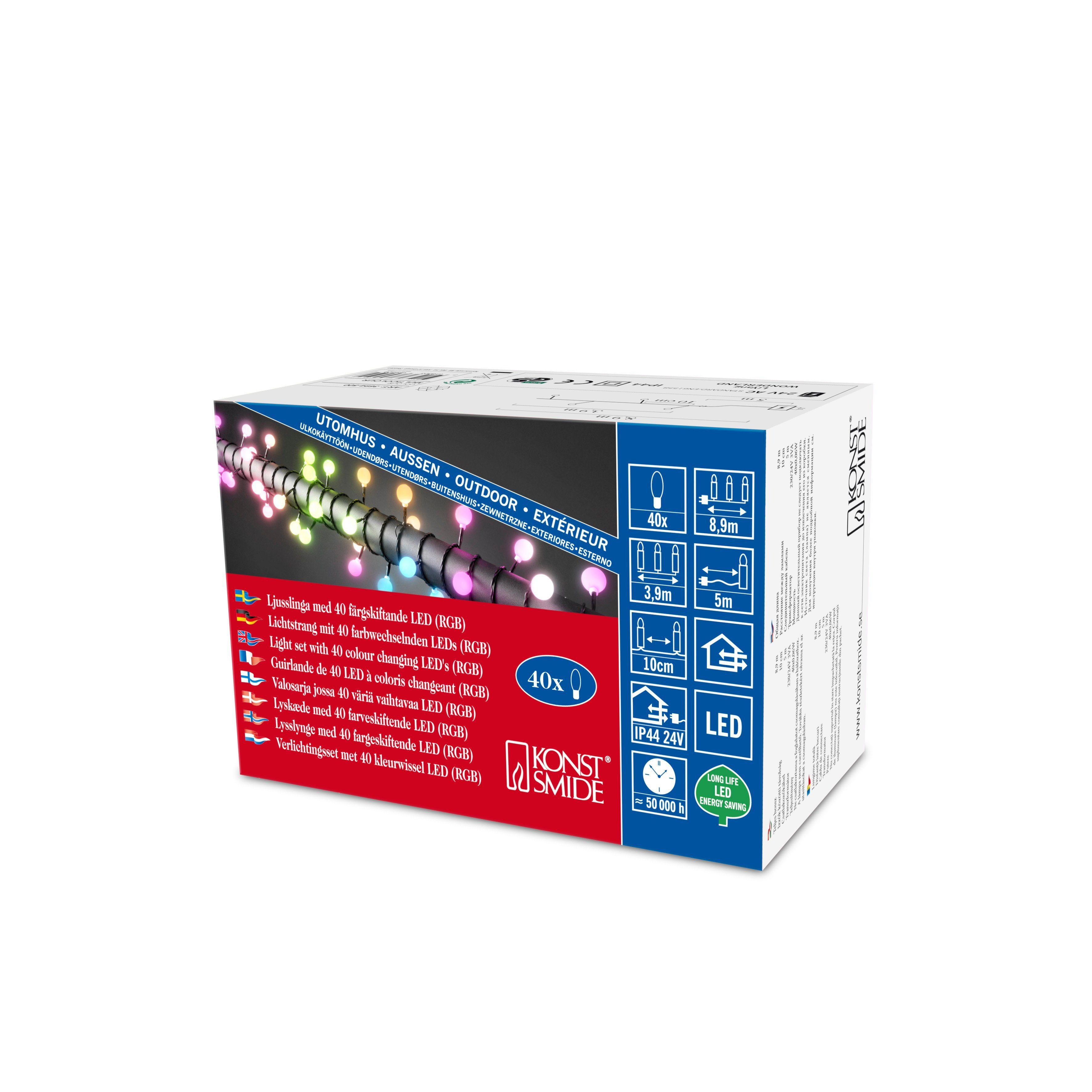 Konstsmide LED Globelichterkette