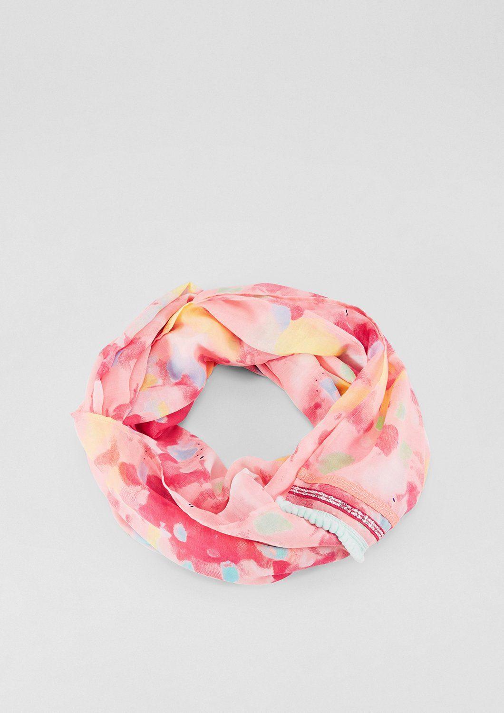 s.Oliver RED LABEL Loop-Schal mit leuchtendem Print