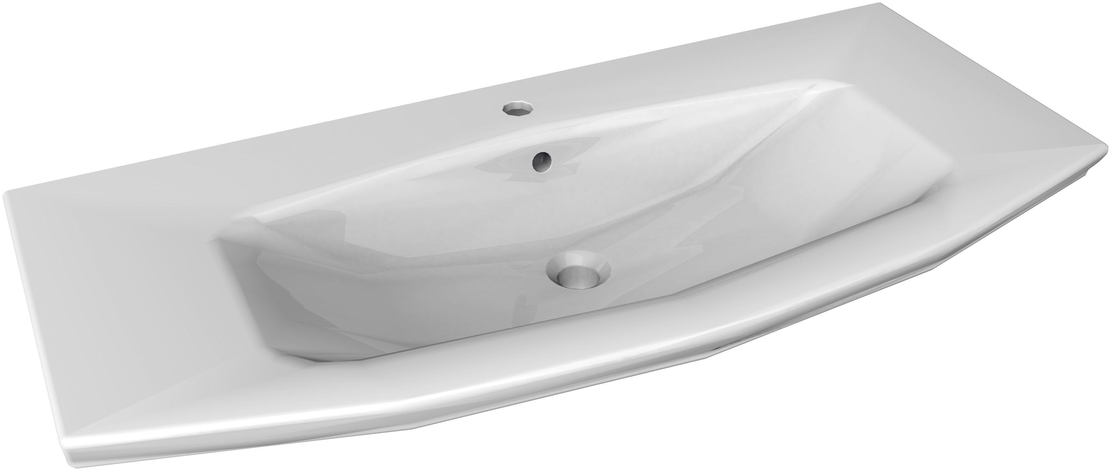 FACKELMANN Waschbecken »Lino«, Breite 110 cm, Keramik   Bad > Waschbecken   FACKELMANN