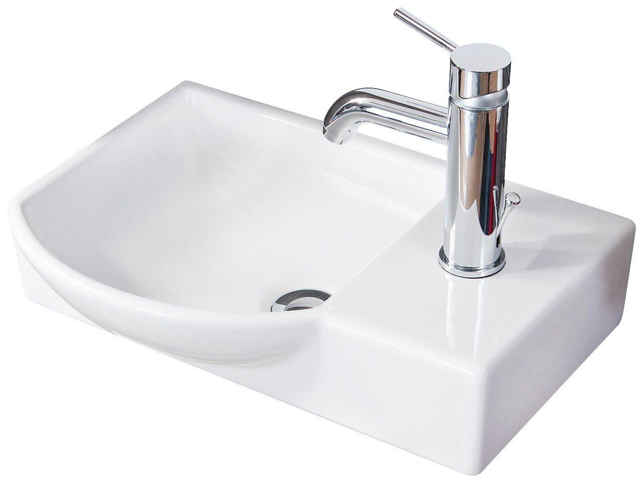 FACKELMANN Waschbecken »Gäste-WC«, Breite 45 cm, für Gäste-WC, Keramik