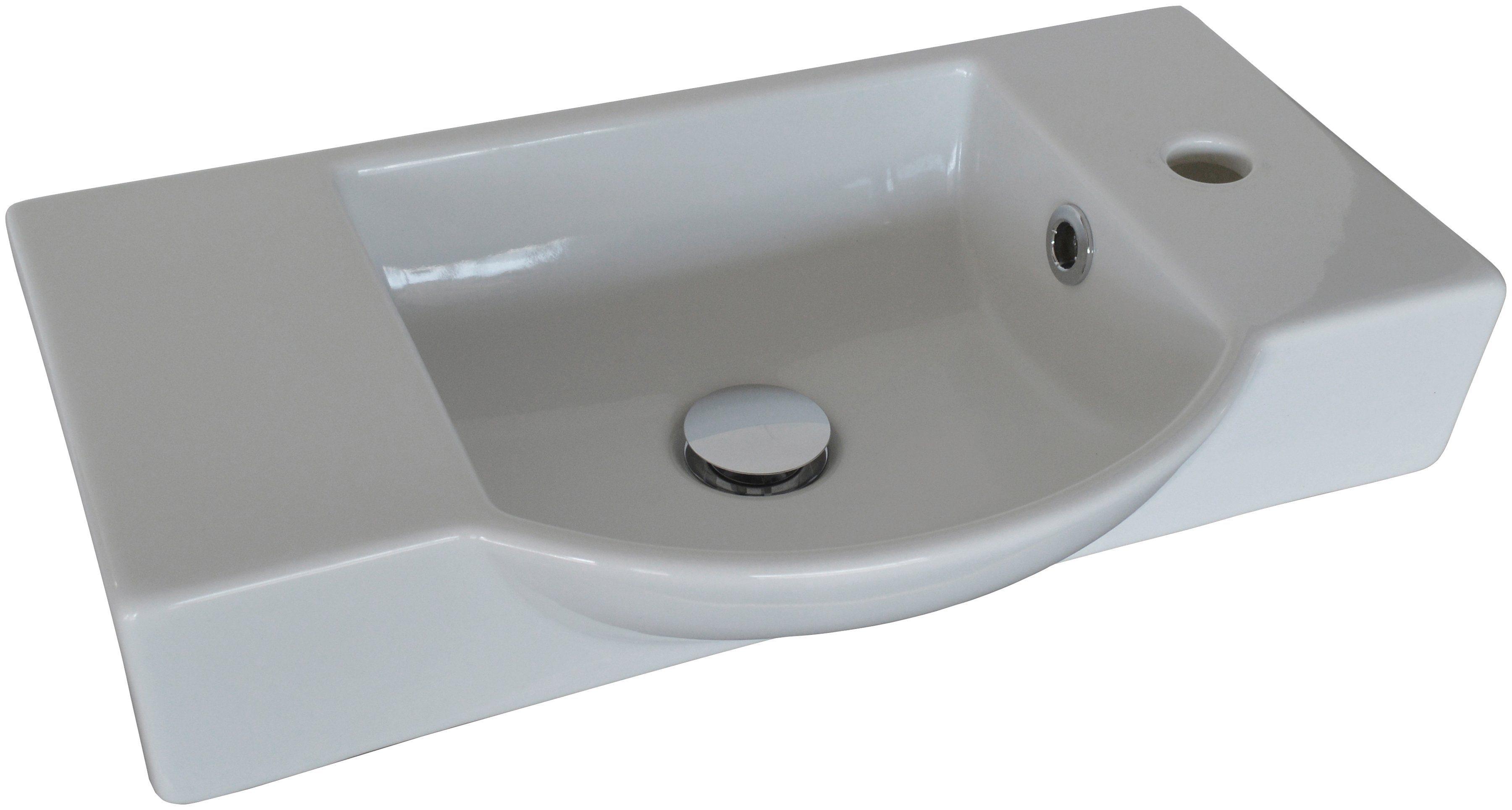 FACKELMANN Waschbecken »Gäste-WC«, Breite 54,5 cm, für Gäste-WC, Keramik