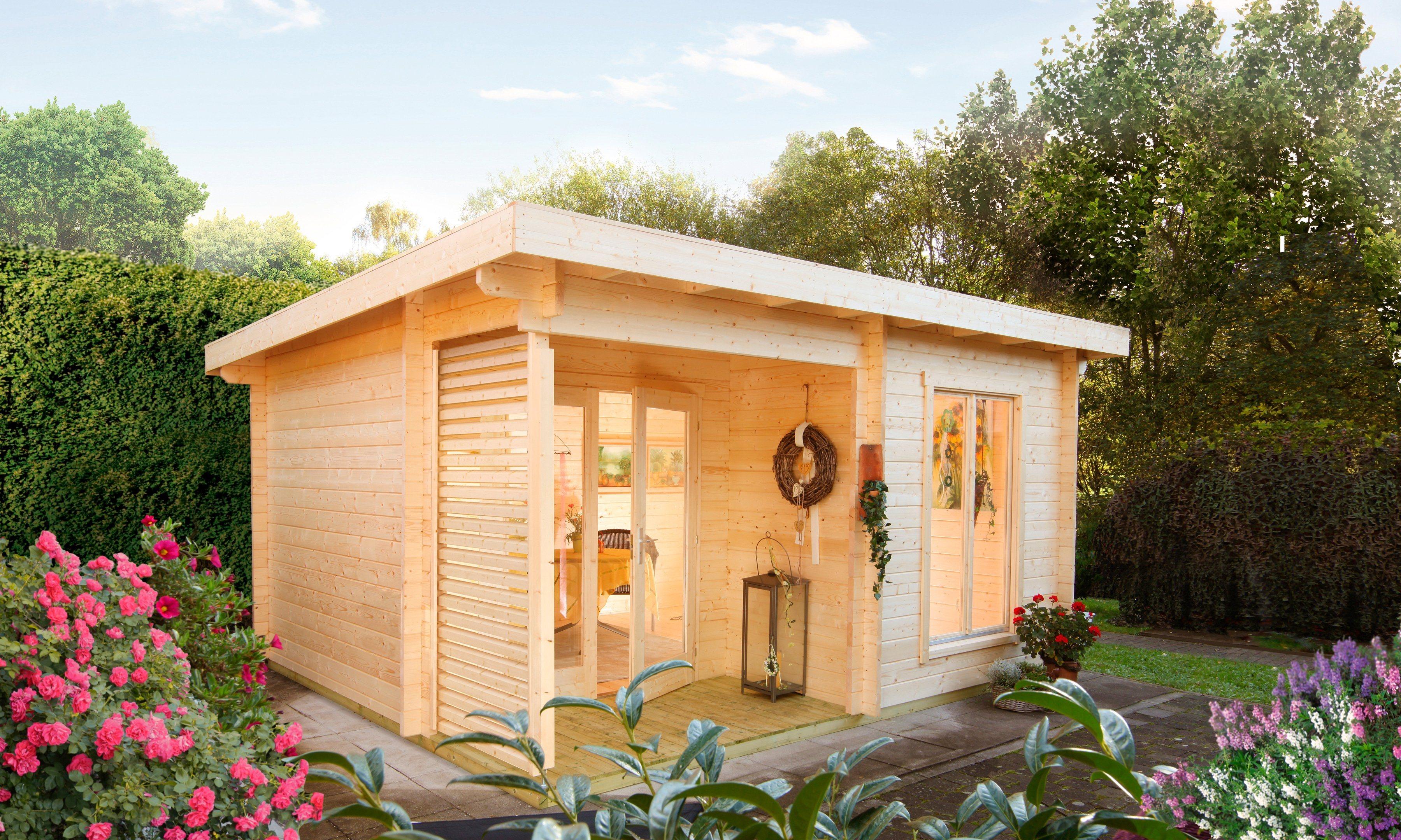 WOLFF Gartenhaus »Cordoba 44-A Modern«, BxT: 506x390 cm | Garten > Gartenhäuser | Wolff