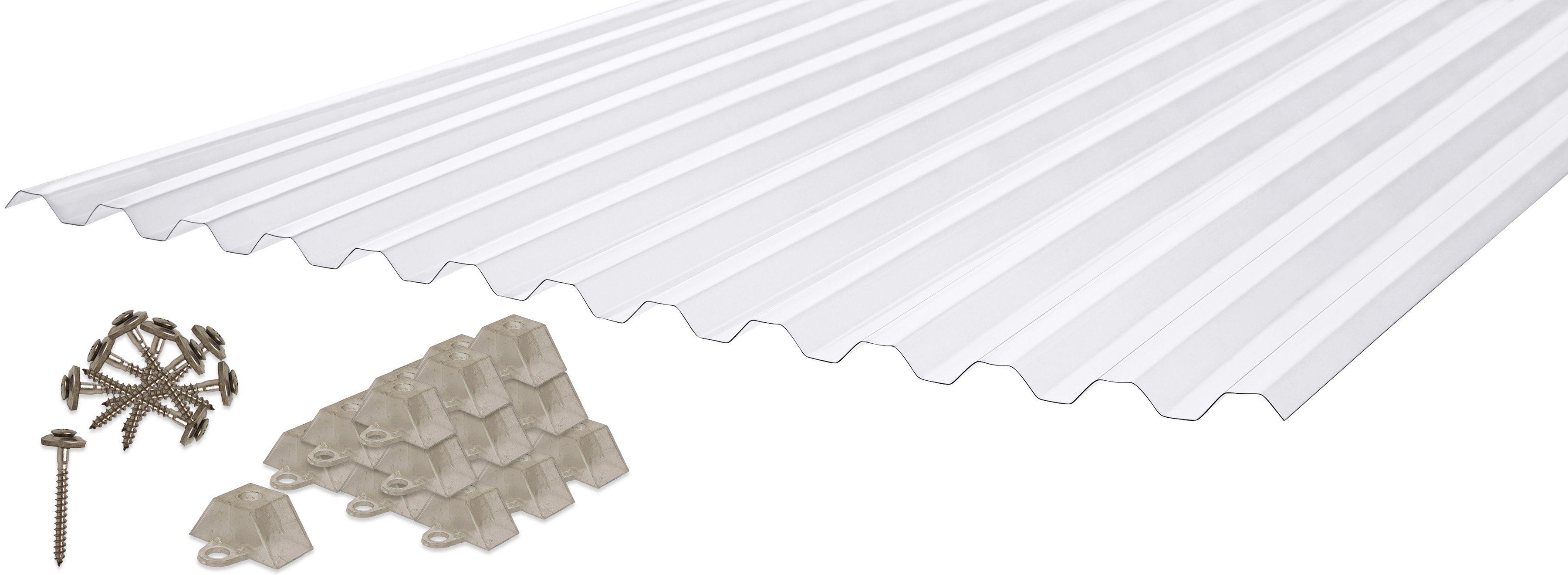 PALRAM Set: Wellplatte »Suntuf«, 0,65 mm klar, 6 Stück á 90x200 cm