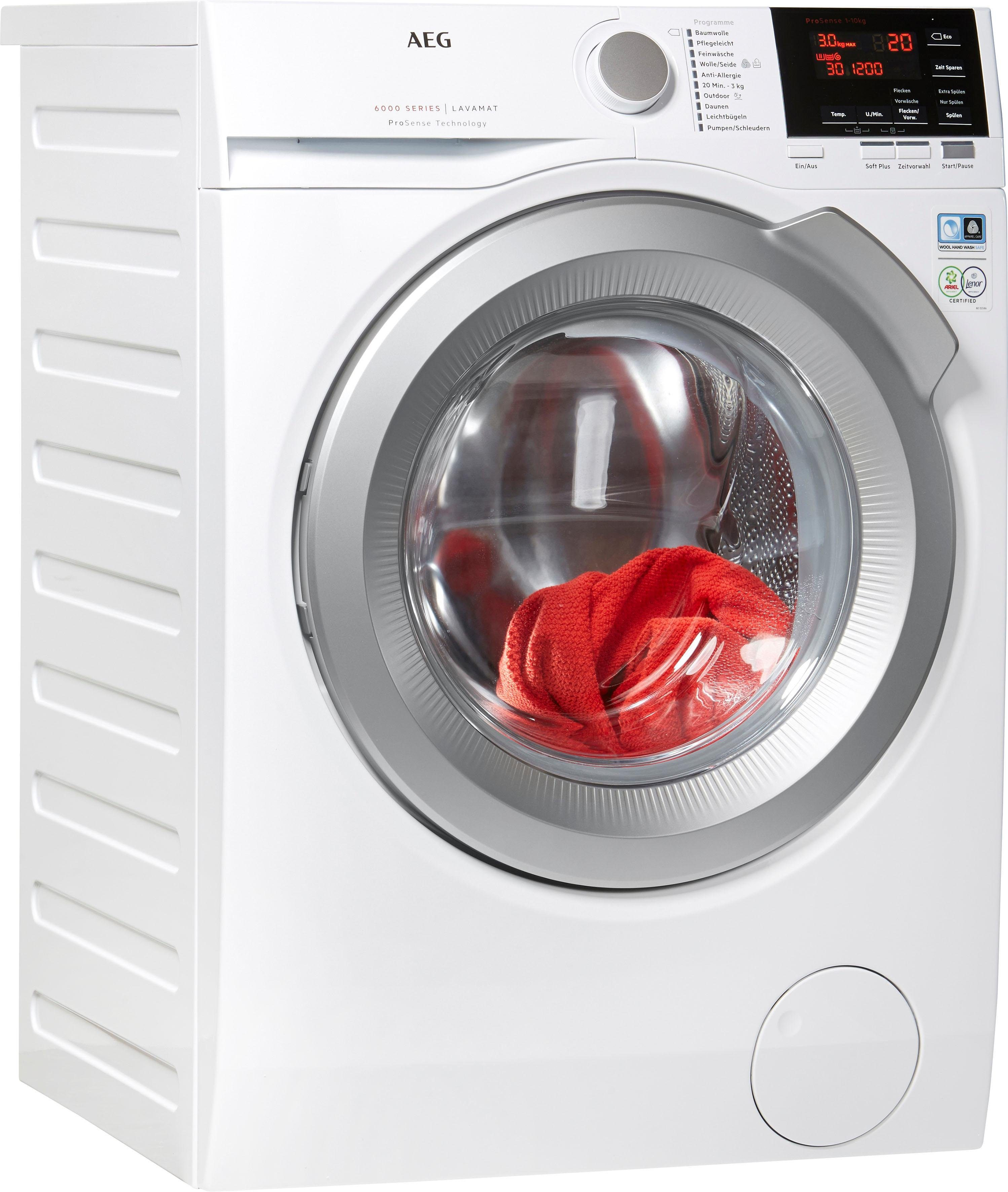 AEG Waschmaschine 6000 L6FB67400, 10 kg, 1400 U/Min