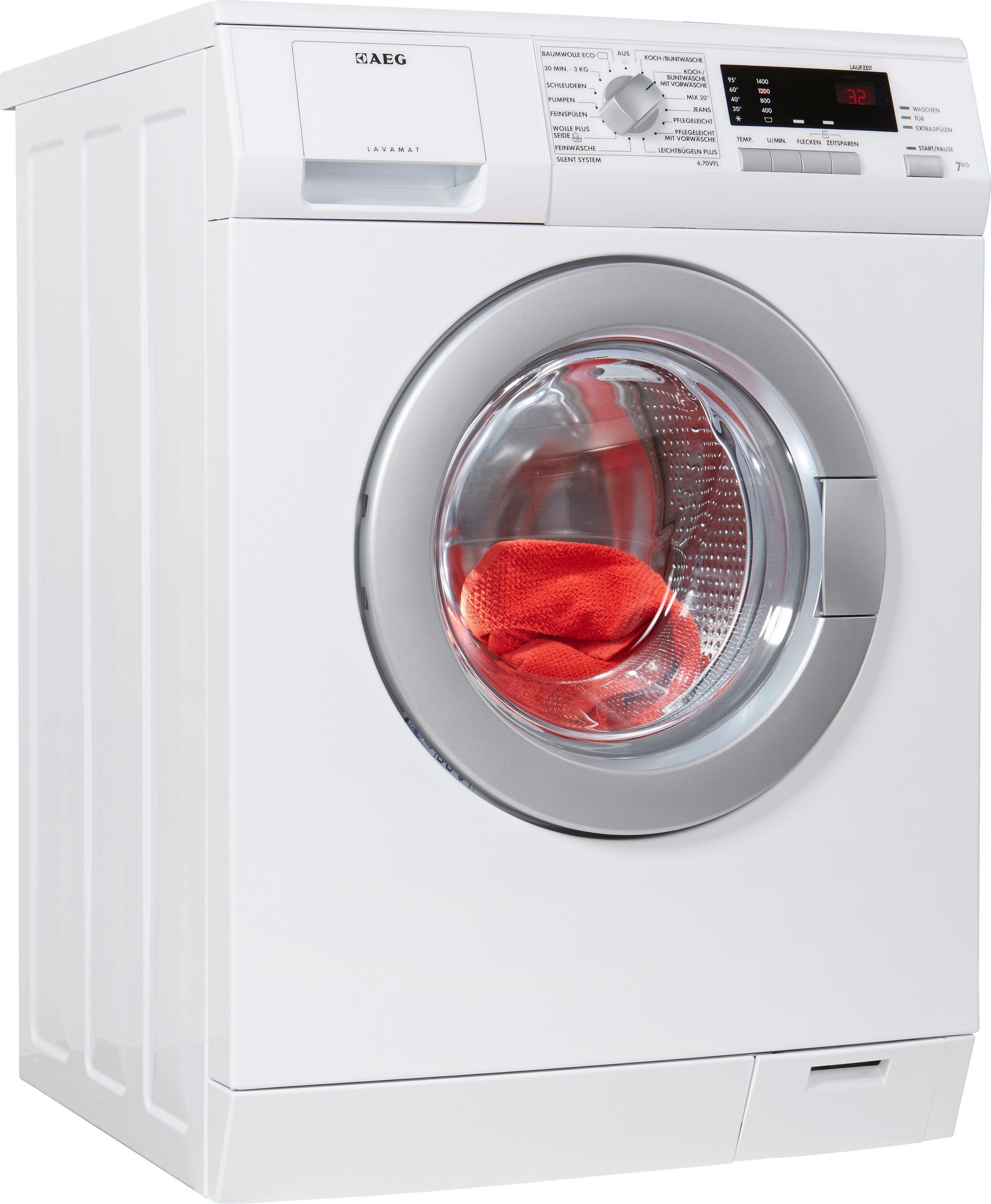 AEG Waschmaschine L6.70VFL, 7 kg, 1400 U/Min