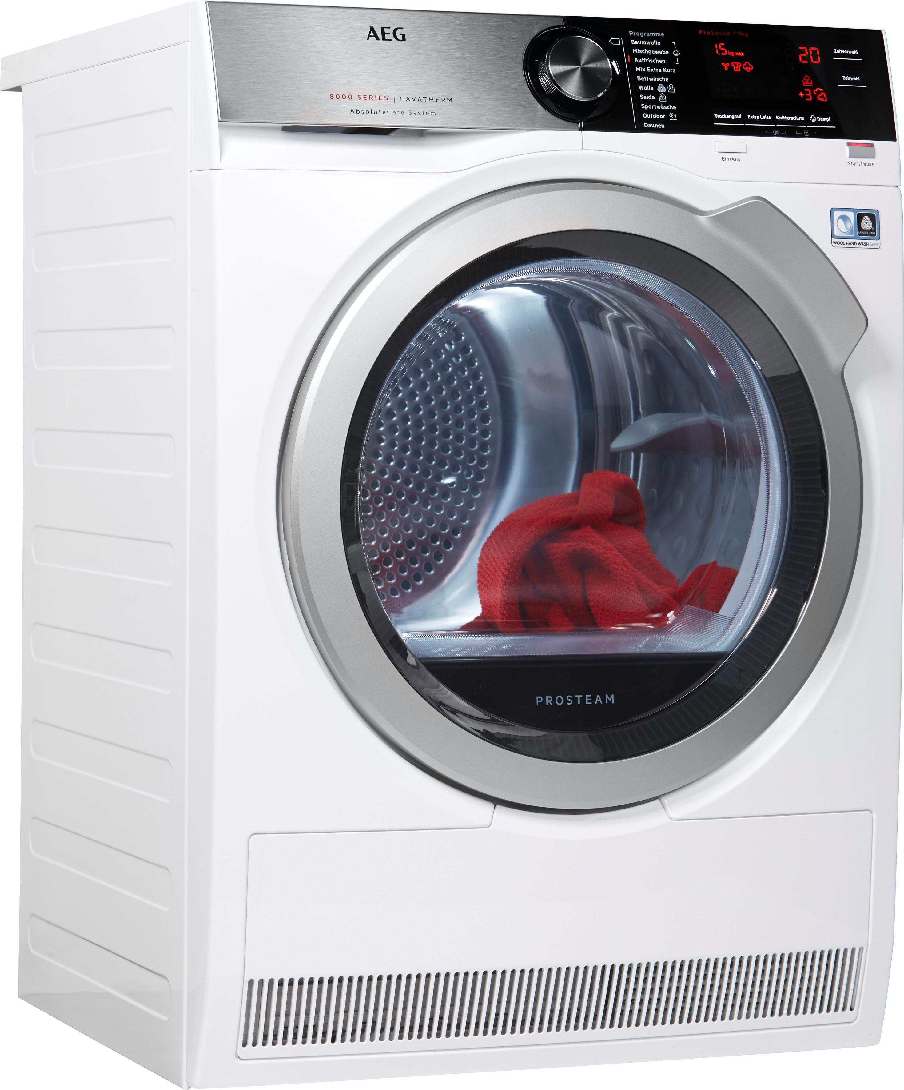AEG Wärmepumpentrockner 8000 T8DE88595D, 9 kg