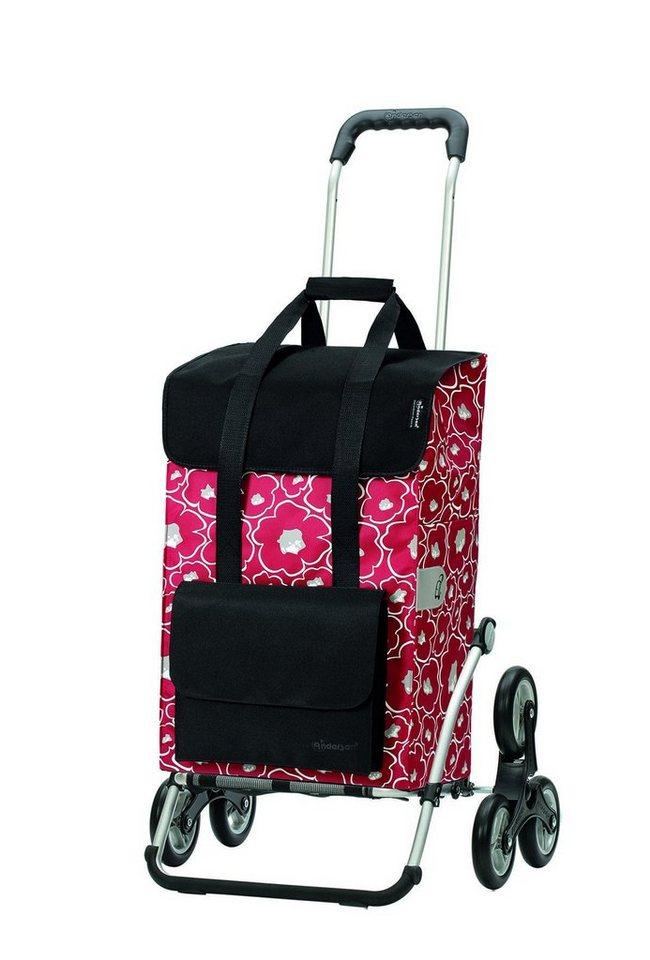 Andersen Einkaufstrolley »Royal Shoper Alba«, 48 l, Treppensteiger | Taschen > Handtaschen > Einkaufstasche | Rot | Andersen