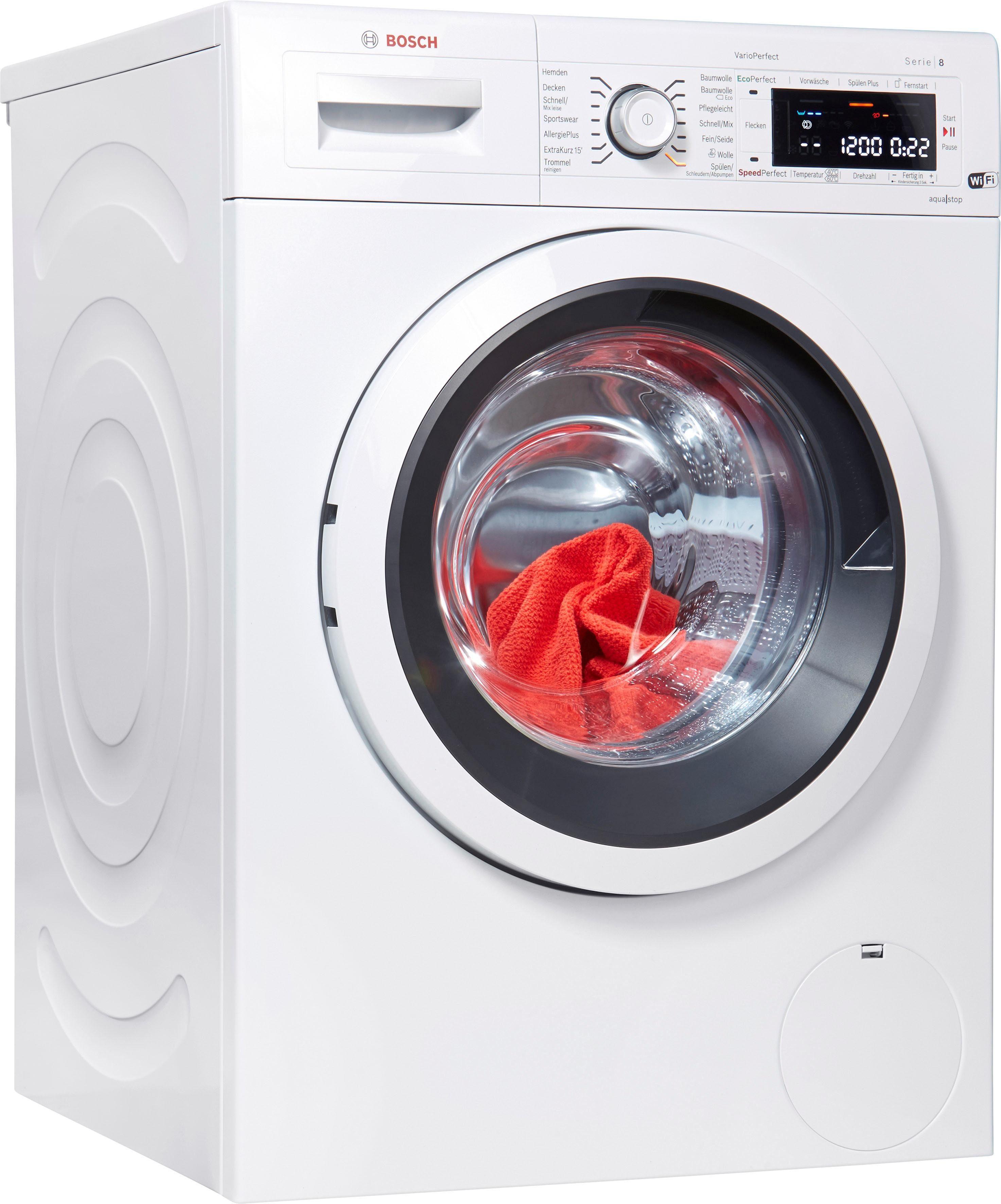 BOSCH Waschmaschine Serie 8 WAWH8550, 8 kg, 1400 U/Min