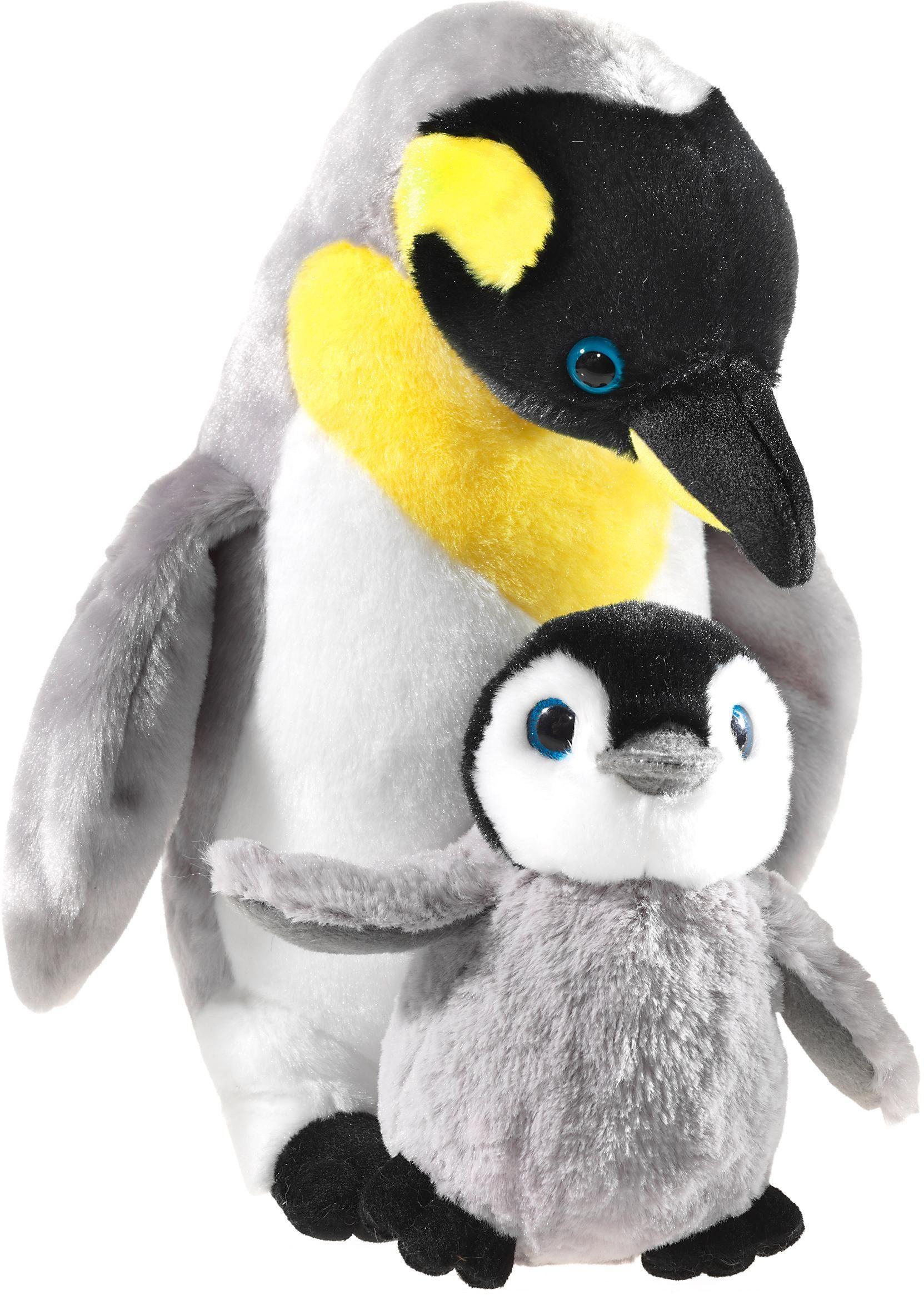 2 Stück Pinguin 32 cm und16 cm Pinguin Kuscheltier Stofftier Arktis & Antarktis