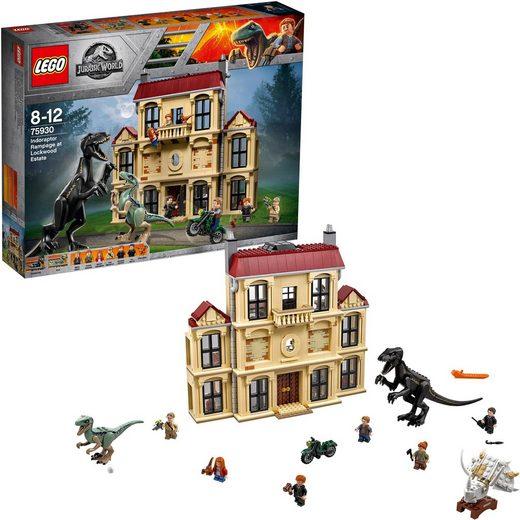 LEGO® Konstruktionsspielsteine »Indoraptor-Verwüstung des Lockwood Anwesens (75930), LEGO® Jurassic World«, (1019 St)
