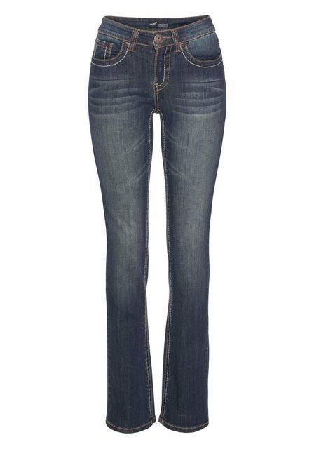Hosen - Arizona Gerade Jeans »Kontrastnähte« Mid Waist › blau  - Onlineshop OTTO
