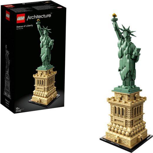 LEGO® Konstruktionsspielsteine »Freiheitsstatue (21042), LEGO® Architecture«, (1685 St), Made in Europe