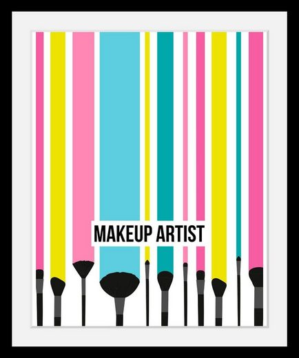 queence Bild »Makeup Artist«, in 3 Größen, gerahmt