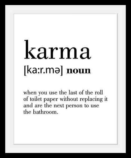 Bild »Karma«, in 3 Größen, gerahmt