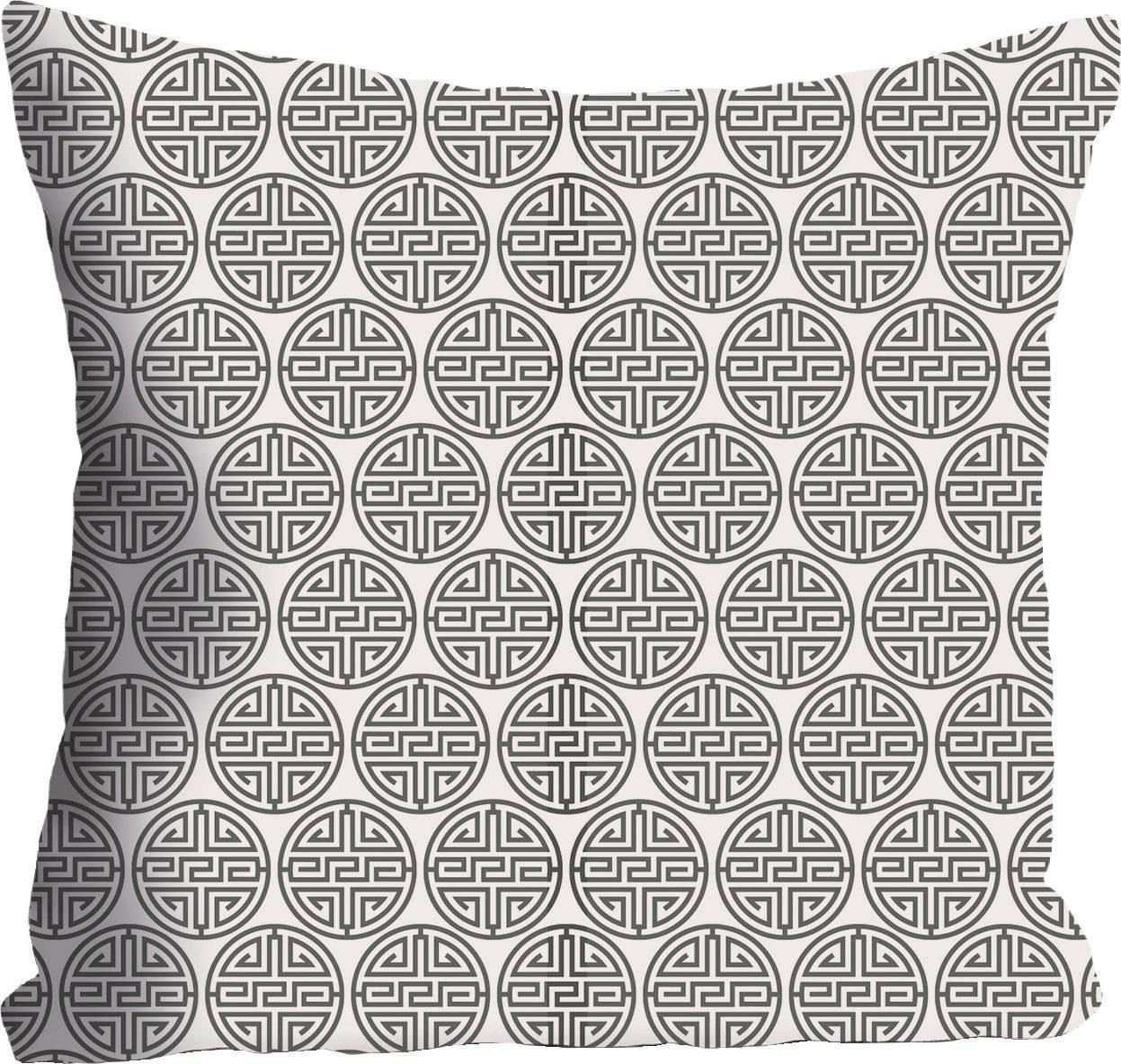 Kissenhülle »B&W Muster« 40/40 cm
