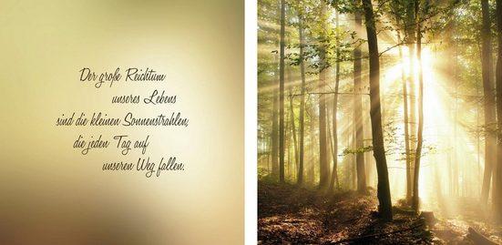 Leinwandbild »Sonnenstrahlen«, (Set), 2er-Set