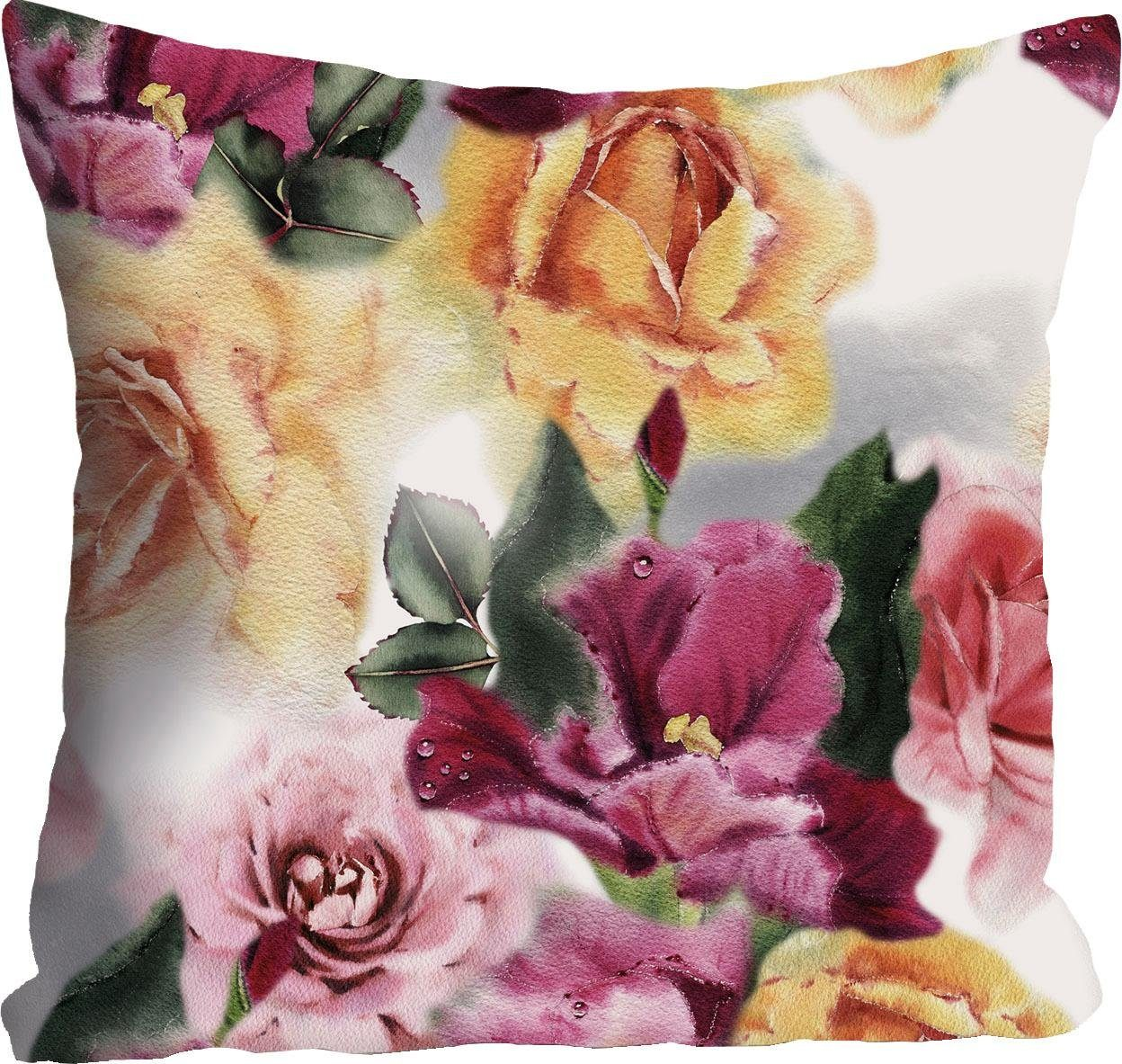 Kissenhülle »Blüten & Blätter« 40/40 cm