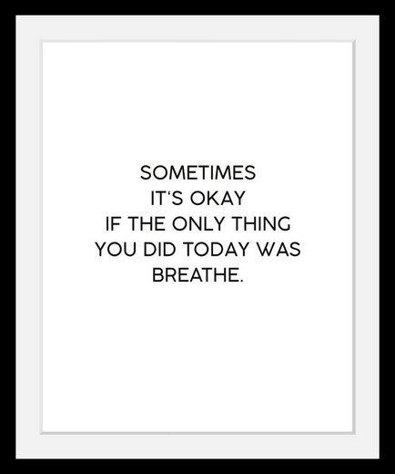 Bild »Breathe«, in 3 Größen, gerahmt