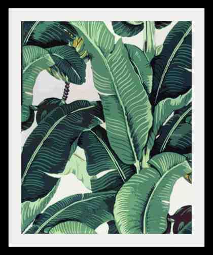 Bild »Blätter«, in 3 Größen, gerahmt