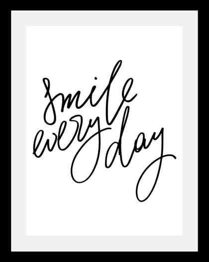 Bild »Smile«, in 3 Größen, gerahmt