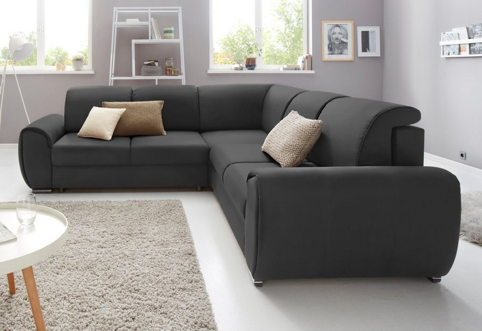 exxpo sofa fashion polsterecke mit bettfunktion in 3. Black Bedroom Furniture Sets. Home Design Ideas