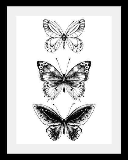 Bild »Schmetterlinge«, in 3 Größen, gerahmt