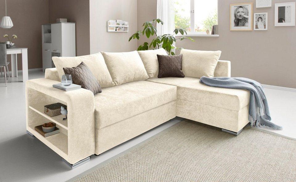 collection ab polsterecke inklusive bettfunktion und bettkasten online kaufen otto. Black Bedroom Furniture Sets. Home Design Ideas