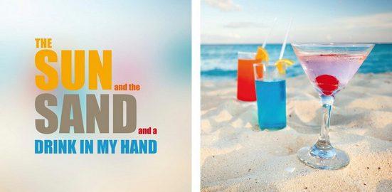 Leinwandbild »Sun & Sand«, (Set, 2 Stück), 2er-Set